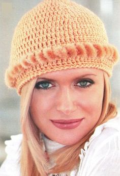 crochet hat with diagram! This fur addition makes it look so classy and chic! <3