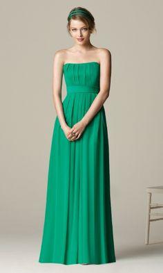 Glamorous Chiffon A-line Strapless Empire Long/Floor-length Bridesmaid Dresses FSAU1409P917087 - formalsydney.com