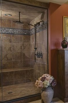 shower steam room design | space for a spacious steam shower with multiple shower heads
