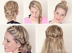 Here are a few a lot of good suggestions for the modern, beautiful and practical hairstyles for all the girls, that teenagers who take care of their hair in any situation they want to have a tidy hair!  Reverse braid   If you like wheat braid, al