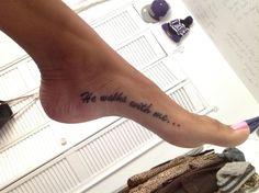 He walks with me... #tattoos