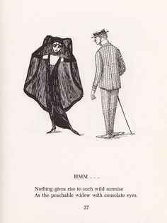 Scrap Irony: Irreverent Illustrated Cultural Commentary by Edward Gorey circa 1961