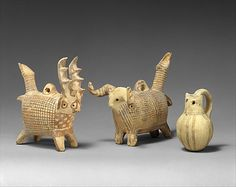 Terracotta rattles. Period: Late Cypriot IB Date: ca. 1600–1450 BCE.