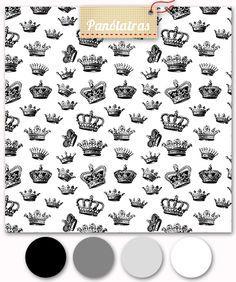 Coroas Pretas - Fundo Branco - Panólatras