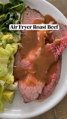 Air Fryer Dinner Recipes, Air Fryer Recipes Easy, Ww Recipes, Cooking Recipes, Healthy Recipes, Cooks Air Fryer, Air Fried Food, Air Frier Recipes, Roast Beef