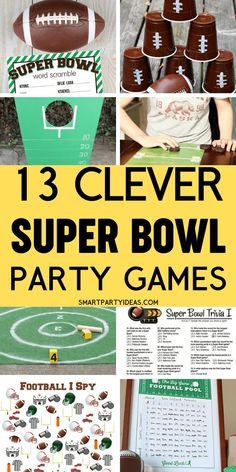 Football Party Games, Fall Party Games, Tween Party Games, Bridal Party Games, Dinner Party Games, Graduation Party Games, Tailgate Games, Football Birthday, Sports Party