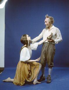"New York City Ballet - studio portrait of George Balanchine and Suzanne Farrell in ""Don Quixote"", choreography by George Balanchine (New York)"
