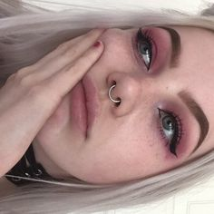 Piercing face for girls products 23 Ideas Bold Makeup Looks, Pretty Makeup, Simple Makeup, Glowy Makeup, Beauty Makeup, Hair Beauty, Aesthetic Makeup, Aesthetic Girl, Makeup Inspo