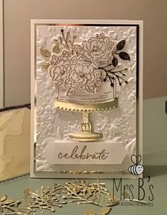 themed first birthday Wedding Cards Handmade, Beautiful Handmade Cards, Greeting Cards Handmade, Birthday Cake Card, Happy Birthday Cards, Birthday Gifts, Wedding Shower Cards, Wedding Anniversary Cards, Embossed Cards
