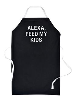 This adorable graphic apron calls upon Alexa to help make dinner, making this the perfect cooking companion for any multi-tasking parent. - Color: black - H x W - Imported - Fiber Content: cotton Bbq Kitchen, Kitchen Aprons, Kitchen Gifts, Bohemian Lifestyle, Home Decor Trends, Fiber, Color Black, Content, Cooking