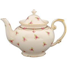 Amazon.com: Gracie China Pink Petite Fleur Porcelain 3-Cup Tea Pot:... ($1,750) ❤ liked on Polyvore featuring home, kitchen & dining and teapots