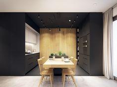 Questo appartamento contemporaneo schiocca con gli accenti del turchese - Kraków, Poland