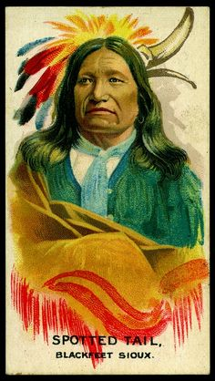 Cigarette Card - Indian Chief, Spotted Tail