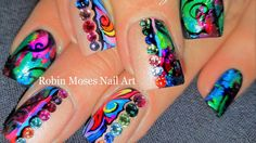 Rainbow Foil Nails! | DIY Glitter Spring Bling Nail Art Design Tutorial