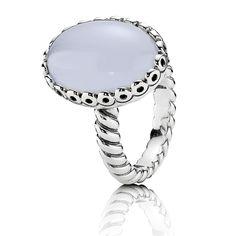 Nuevos joyas de Pandora: Anillo de plata de ley y calcedonia