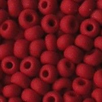 Rocailles Mat Opaque Lichtrood. 2.6mm. Hoge kwaliteit ca. 17 gram voor