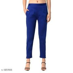 Trousers & Pants Trendy Women's Cotton Pant Fabric: Cotton Size: M - 30 in L - 32 in XL - 34 in XXL - 36 in XXXL - 38 in Length: Up To 38 in Type: Stitched Description: It Has 1 Piece Of Pant Pattern: Solid Country of Origin: India Sizes Available: M, L, XL, XXL, XXXL   Catalog Rating: ★4 (545)  Catalog Name: Diva Trendy Women's Cotton Pants Vol 1 CatalogID_158375 C79-SC1034 Code: 753-1251668-768