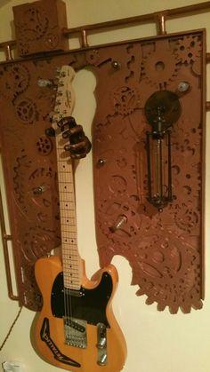 steampunk inneneinrichtung gestalten tipps, pin von costi srn auf unique steampunk guitar frame | pinterest, Design ideen