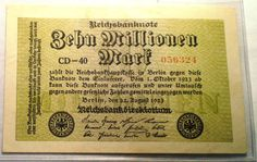 1923 ONE MILLION Mark Note Germany - Type II - Currency - Christmas Gift - Papier / Goldmark  - Coin & Dollar Money Collection - Collection by EarthlyCrystals33 on Etsy