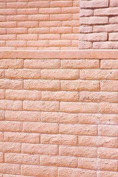 Brick Wall -  Pink, Peach, Pale Terracotta