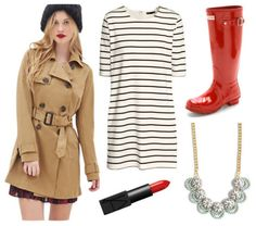 Easy Outfit Formulas: Trench Coat + Rain Boots