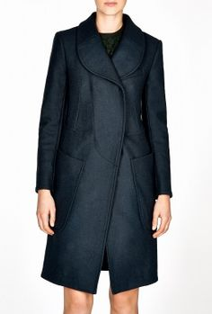 Carven   Single Breasted Wool Mix Coat
