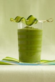 Green Goddess #Smoothie #Spinach #Kiwi #Avocado #Cucumber
