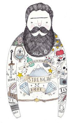 Ella | UK Lifestyle blog: Ella Masters Bearded men