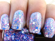 **Mr Bubble**   Custom Blended Glitter Nail Polish / by Lush Lacquer, $8.75