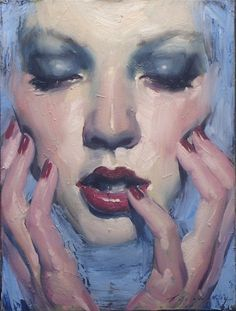 Malcolm Liepke-Sea of Blue Artist-Figurative Paintings Malcolm Liepke, Figure Painting, Painting & Drawing, Painting Inspiration, Art Inspo, L'art Du Portrait, Pencil Portrait, Frida Art, Wow Art