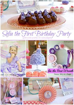 AMAZING Tips for planning a Sofia the First Birthday Party! All on a Budget! #partyplanning #SofiaTheFirst