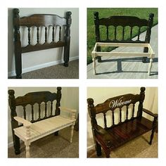 Bench Furniture, Refurbished Furniture, Repurposed Furniture, Furniture Projects, Furniture Makeover, Garden Furniture, Furniture Movers, Wood Projects, Outdoor Furniture