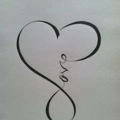 infinity + love.... love it! this would be a symbol on my wedding day