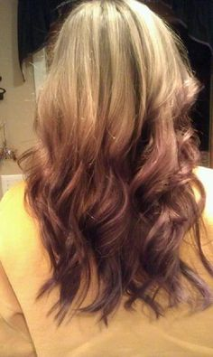 ~ light to dark ombre<3 I think i'm going to try this soon! ~