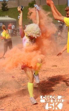 The Color Me Rad 5K is a fun race for beginners or runners looking to have a good time! #fun #run #running