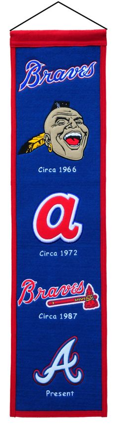 7408846011/674088460119/_B_ These uniquely shaped vertical banners chronicle the evolution of select logos or mascots through the years. Each logo is identified with a circa date connecting each to a