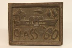 Class of 1960 bronze time capsule cover Class Design, Time Capsule, Bronze, Display, Cover, Frame, Floor Space, Picture Frame, Billboard