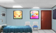 The hospital room Scenery Background, Living Room Background, Animation Background, Hospital Anime, Hospital Room, Episode Interactive Backgrounds, Episode Backgrounds, Anime Scenery Wallpaper, Anime Backgrounds Wallpapers