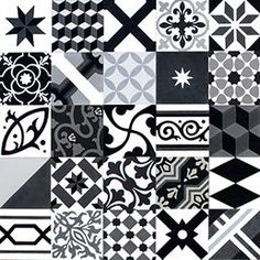 Patchwork, black-grey-white