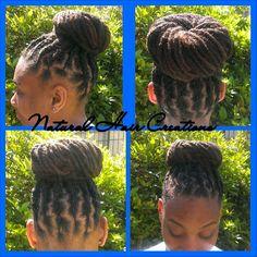 Photo by natural_hair_creations high bun on locs