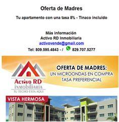 Tu apartamento con una tasa 8% - Tinaco incluido  809.595.4843 - Publicidad