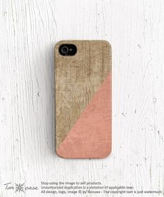 Silicone iPhone 5s case baby pink iPhone 5 case wood by TonCase, $19.99