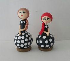 Cabaça - Dupla de bonecas poá