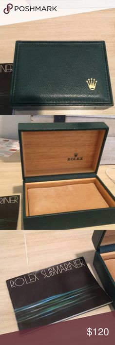 Rolex Box (Authentic/New) With Cushion Perfect Condition Rolex Box with cushion and Submariner Papers (Authentic) Rolex Accessories Watches
