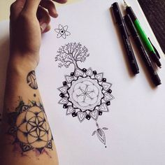 Mandala tree / Tattoo commission on Behance