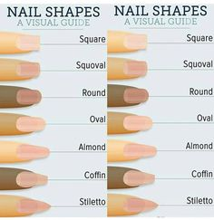 """See our internet site for even more info on """"acrylic nail art designs ring finger"""". It is an outstanding spot to find out more. Nail Tip Shapes, Types Of Nails Shapes, Acrylic Nail Shapes, Acrylic Nails, Gel Nails, Coffin Nails, Fake Nails Shape, Nagel Hacks, Nail Length"""