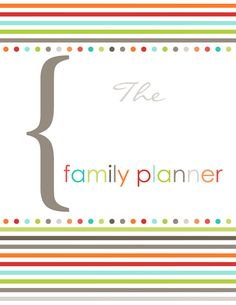 Family organizer - printable, fillable PDF templates . . . I'm getting an idea here . . import into Notability for use on Ipad . . . hmmmm