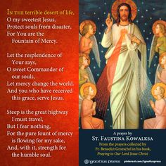 "One of the many beautiful prayers collected by Fr. Benedict Groeschel in his book, ""Praying to Our Lord Jesus Christ. Prayer Verses, Prayer Book, Prayer Cards, Prayer Quotes, St Faustina, Faustina Kowalska, Divine Mercy Sunday, Catholic Religion, Catholic Saints"