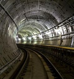 One of the two subway tunnels under the Allegheny River