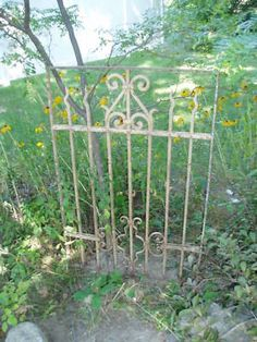 SWEET ANTIQUE VICTORIAN FRENCH WROUGHT IRON GARDEN GATE on eBay!